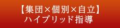 【集団×個別×自立】ハイブリッド指導