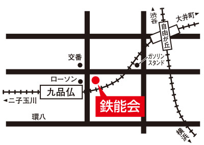 九品仏校マップ